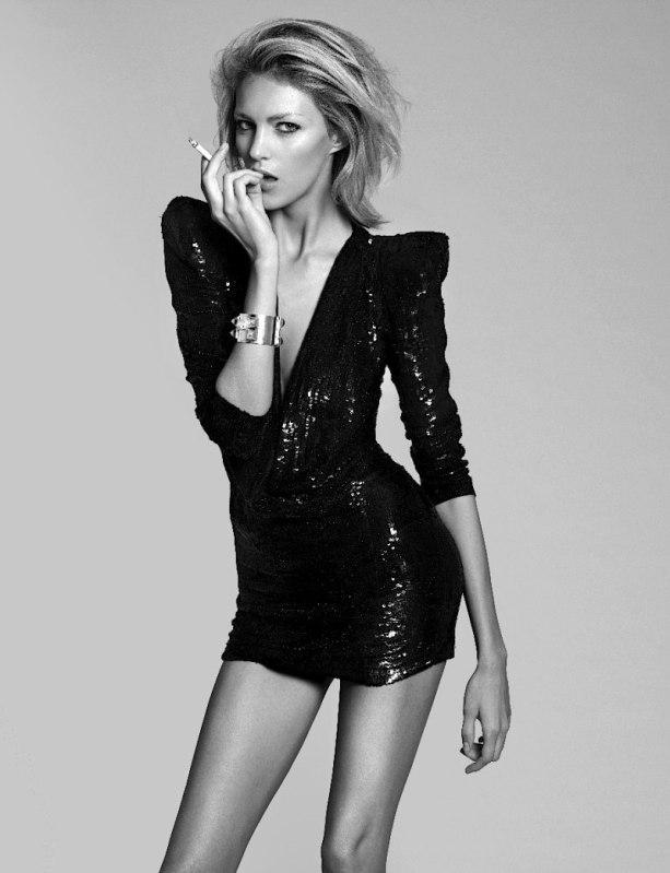 Anja Rubik Shawty Ain T Short Fashion Prose Purple Hose