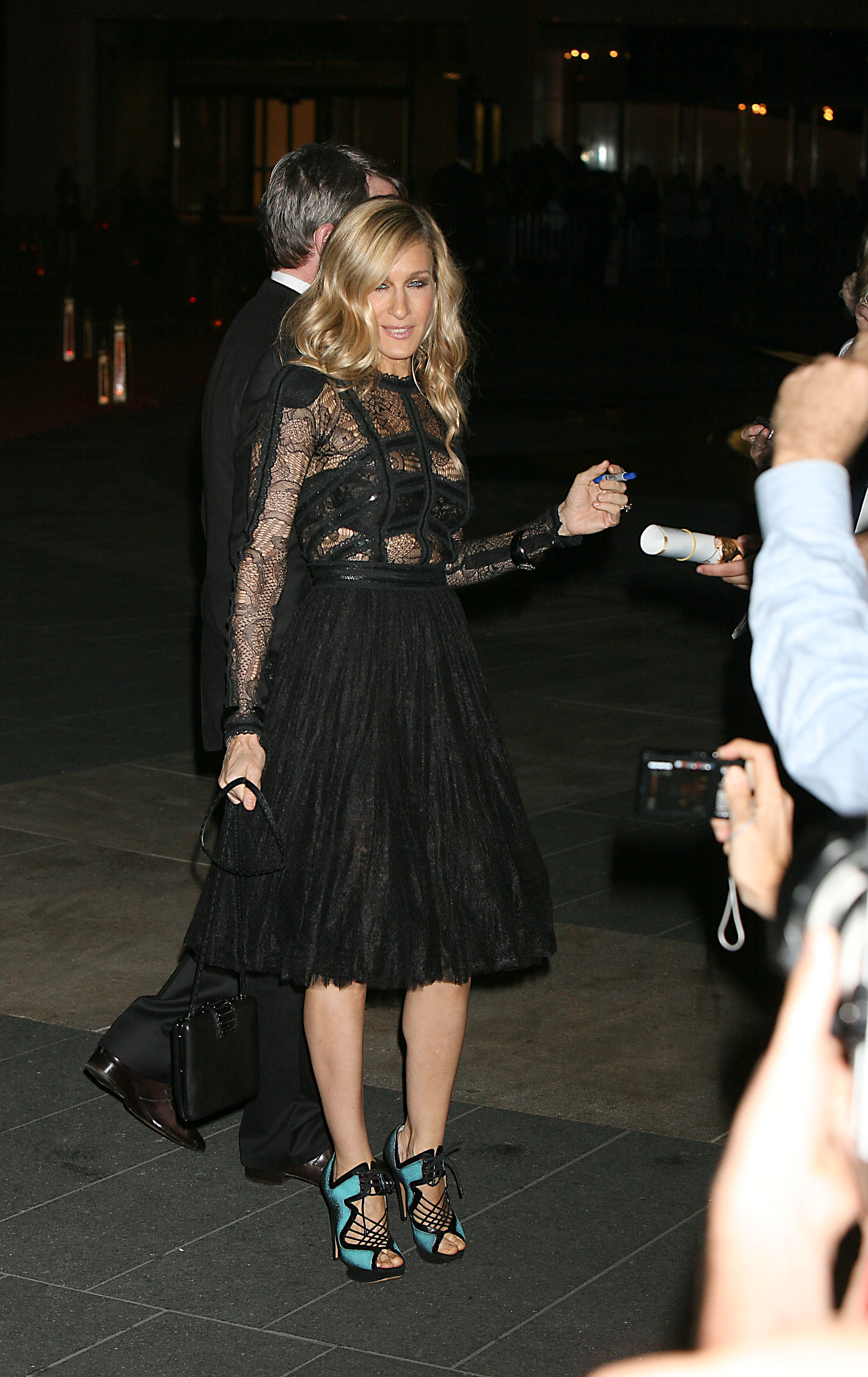 Sarah Jessica Parker Satc  Fashion Prose  Purple Hose-4610