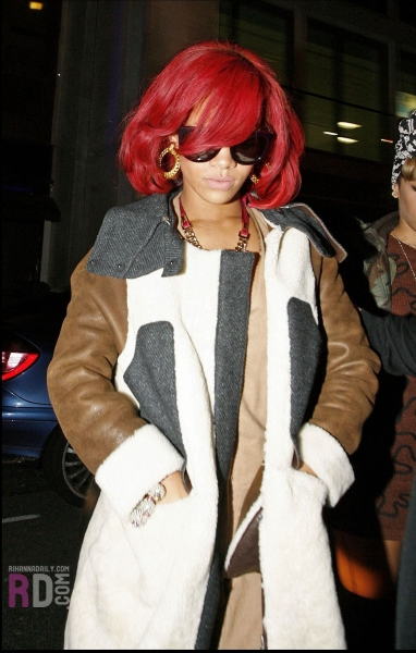 Rihanna Only Girl Redhead Fashion Prose Purple Hose